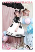 Pumpkin Cat Lolita ~Sweet Toothache~ Lolita OP -Ready made