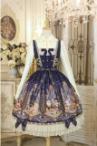 Honey Honey Lolita***Cats' Astrology*** Lolita Normal Waist JSK - Ready Made  Sax Normal Waist JSK Size XL in Stock