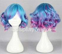 Unique Multicolor Lolita Short Curls Wig