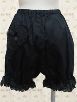 Black Ruffles Sheer Lolita Bloomer