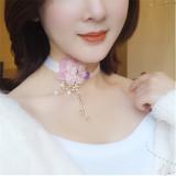 Bustling Flowers Beautiful Tassels Lolita necklace