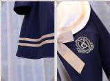 Magic Music School~ College Style Bass Embroidery Lolita Coat + Skirt Set