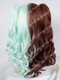 Ponytail Chocolate Mint Middle Divided Lolita Wig chocolate/mint- In Stock