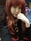 75cm Red Brown Curls Lolita Wig