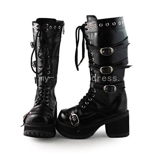 Beautiful Gothic Matt Black Boots