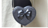 Loris Sweet  Heart Shaped Bow Lolita Cross Body Bag