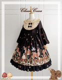 Cheese Cocoa Sweet Lolita Long Sleeves OP Red Size L - In Stock