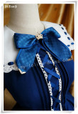 Sailor Collar Long Sleeves OP Dark Blue M - IN STOCK