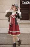 Love and Death~ High Waist Pleated Lolita Jumper Short/Long Version -Preodrer