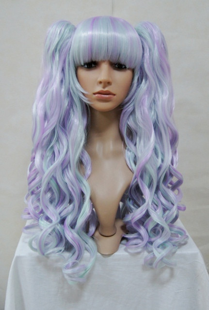 Light Purple Wavy Blended Wig
