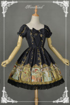 Neverland Lolita -Mucha Four Seasons- Printed Lolita OP Dress