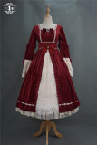 Miss Point ~Mrs Jennifer Elegant Velvet Lolita OP Wine Size XXL - In Stock