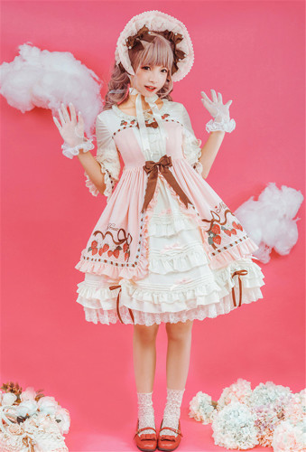 Classic Strawberry- Lolita OP Dress