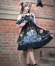 Polar Night ~Gothic Vintage Lolita OP/JSK -Ready Made