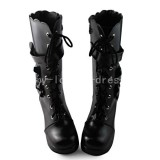 Black Sweet Bows Lolita Boots