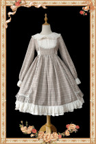 Infanta ~Doris' Journey~ Gingham Lolita OP -Ready Made