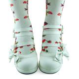 White Side Bow Straps Lolita Shoes