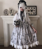 Diamond Honey ~Bone&Jellyfish Museum Gothic Lolita JSK -Ready Made