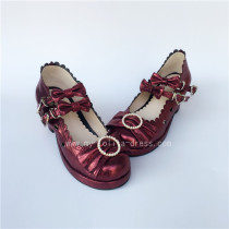 Sweet 3 Bows Lolita Heels Shoes