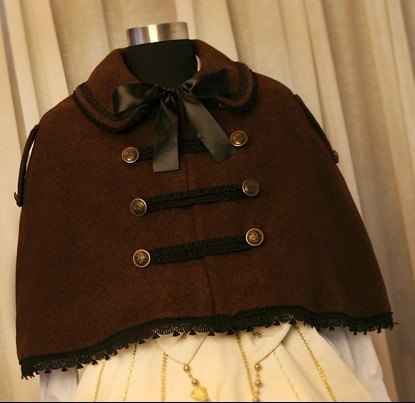 Double Line Buttons Lolita Winter Cape