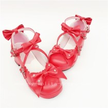 Red Bows Lolita Princess Shoes