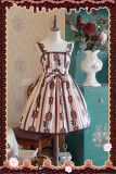 Chocolate Trojan*** Dailywear Version Mini Lolita Jumper Dress Dark Coffee Size L - In Stock