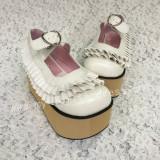 Glitter Black High Platform Lolita Shoes