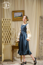 Alpine Maiden~ Vintage Lolita Stripe OP Dress -Pre-order