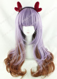 Amo Purple Brown Blended Lolita Wig