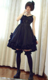 Surface Spell Vampire Girl Lolita Jumper Dress- out