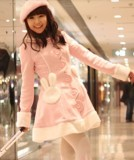 Pink Kawaii Bunny Cape Jacket + Cape Red Bust: 94cm, Waist: 88cm - IN STOCK