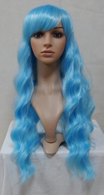 Bright Blue Classic Wavy Lolita Wig