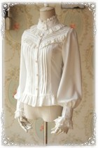 Infanta ~Strong Fragrance~ Thick Chiffon Lolita Blouse White Size L - In Stock