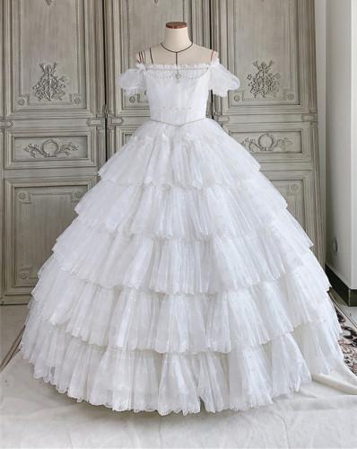 Moon Lover ~ Elegant Lolita OP Bridal Design -Pre-order