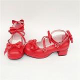 Red Bows Lolita Princess Shoes