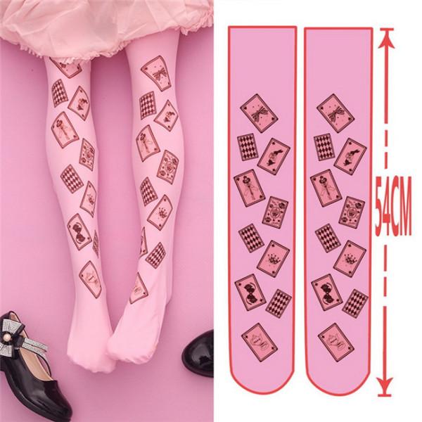 Alice's Poker Velvet Above Knee Lolita High Socks 54cm