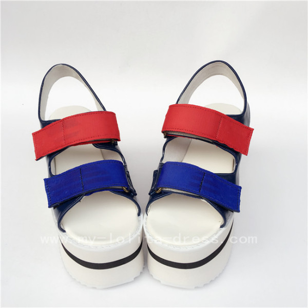 Colorful High Platform lolita Sandals