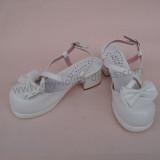 White Bow Lolita Sandals