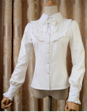 Elegant Thickening Thermal Blouse White XL - IN STOCK