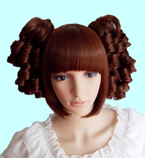 Dark Brown Charm Curly Bobo Lolita Hairpiece