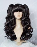 Black White Gothic Curly Lolita Wig - In Stock