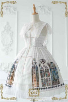 CEL Lolita ~The Holy Cross Gothic Lolita JSK with Front Open Design + Fake Collar -Limited Quantity Pre-order