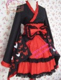 Red Black Bows Wa Lolita Dress