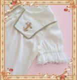 Cross~ High Density Chiffon Square Collar Short Sleeves Lolita Blouse