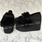Sweet Black Velvet Lolita High Platform