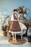 Rose Humanoid~ Stripe Vintage High Waist Lolita Vest/Skirt -Ready Made