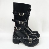 Beautiful Gothic Matt Black Boots