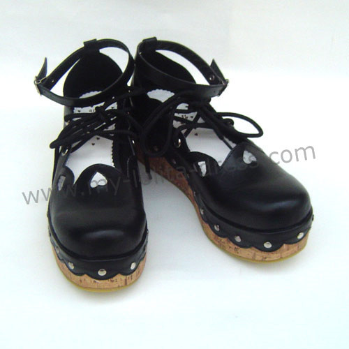 Black Hearts Lolita Footwear