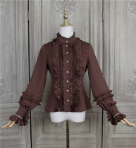 Little Dipper ~Nutella Heavy Ruffles Lolita Blouse -Pre-order Size 2XL - In Stock