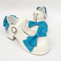 White Bow Platform Lolita Shoes